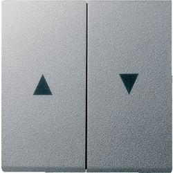 GIRA schakelwip jaloezieschakelaar 2-voudig Systeem 55 aluminium mat (029426)
