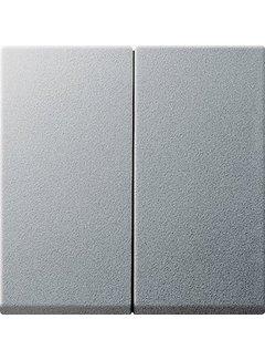 GIRA schakelwip 2-voudig Systeem 55 aluminium mat (029526)