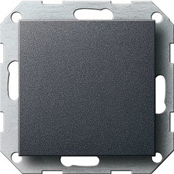 GIRA blinddeksel incl. draagframe Systeem 55 antraciet mat (026828)