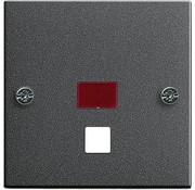 GIRA centraalplaat trekschakelaar controlevenster Systeem 55 antraciet mat (063828)