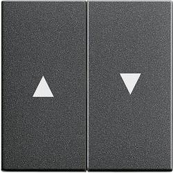 GIRA schakelwip jaloezieschakelaar 2-voudig Systeem 55 antraciet mat (029428)