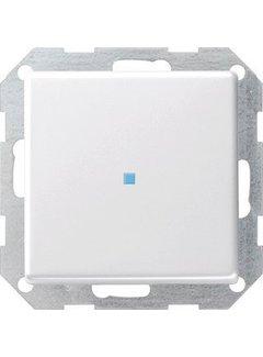 GIRA drukvlakschakelaar controleverlichting 2-polig Systeem 55 wit glans (012203)