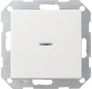 GIRA drukvlakschakelaar controleverlichting 1-polig Systeem 55 wit glans (013603)