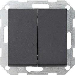 GIRA drukvlakschakelaar schuinstaand wissel-wisselschakelaar Systeem 55 antraciet mat (012828)