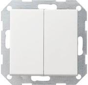 GIRA drukvlakschakelaar wissel-wisselschakelaar Systeem 55 wit mat (012827)