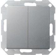 GIRA drukvlakschakelaar serieschakelaar Systeem 55 aluminium mat (012526)