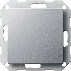 GIRA drukvlakschakelaar kruisschakelaar Systeem 55 aluminium mat (012726)