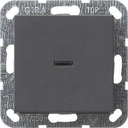 GIRA drukvlakschakelaar controleverlichting 2-polig Systeem 55 antraciet mat (012228)
