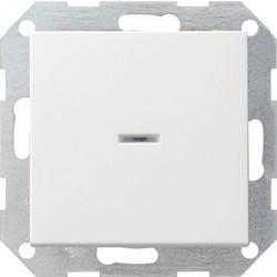 GIRA drukvlakschakelaar controleverlichting 2-polig Systeem 55 wit mat (012227)