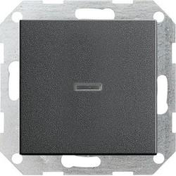 GIRA drukvlakschakelaar controleverlichting 1-polig Systeem 55 antraciet mat (013628)