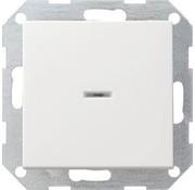 GIRA drukvlakschakelaar controleverlichting 1-polig Systeem 55 wit mat (013627)