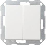 GIRA drukvlakschakelaar serieschakelaar Systeem 55 wit mat (012527)
