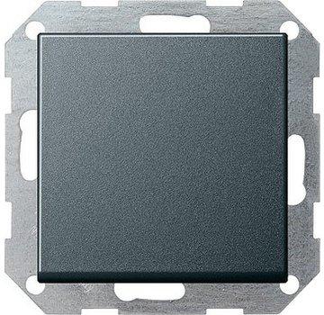 GIRA drukvlakschakelaar kruisschakelaar Systeem 55 antraciet mat (012728)