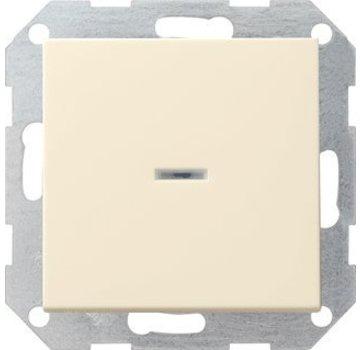 GIRA drukvlakschakelaar controleverlichting 2-polig Systeem 55 creme glans (012201)
