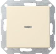 GIRA drukvlakschakelaar controleverlichting 1-polig Systeem 55 creme glans (013601)