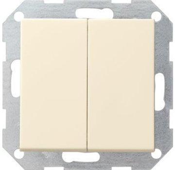 GIRA drukvlakschakelaar wissel-wisselschakelaar Systeem 55 creme glans (012801)