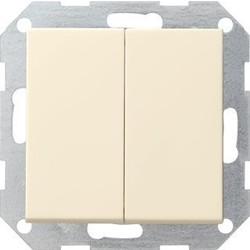 GIRA drukvlakschakelaar serieschakelaar Systeem 55 creme glans (012501)