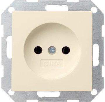 GIRA wandcontactdoos zonder randaarde Systeem 55 creme glans (048001)