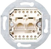 GIRA RJ45 data wandcontactdoos CAT3 2-voudig (019000)