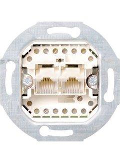 GIRA RJ45 data wandcontactdoos CAT3 2-voudig (019000)