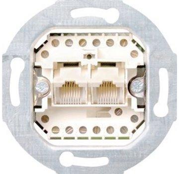 GIRA RJ45 telefoon wandcontactdoos CAT3 2-voudig (019000)