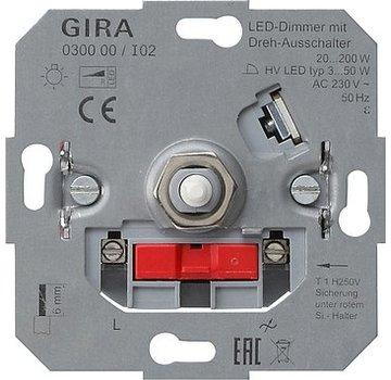 GIRA draaidimmer 20-200 Watt (030000)