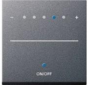 GIRA dimmerknop Systeem 2000 tastdimmer touch Systeem 55 antraciet mat (226028)
