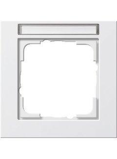 GIRA afdekraam 1-voudig tekstkader E2 wit mat (109122)
