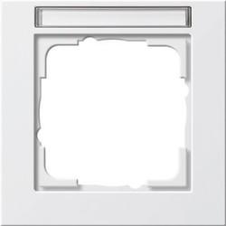 GIRA afdekraam 1-voudig tekstkader E2 wit glans (109129)