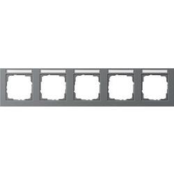GIRA afdekraam 5-voudig horizontaal tekstkader E2 antraciet mat (109523)