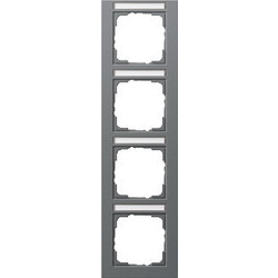 GIRA afdekraam 4-voudig verticaal tekstkader E2 antraciet mat (111423)