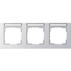 GIRA afdekraam 3-voudig horizontaal tekstkader E2 aluminium mat (109325)