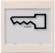GIRA schakelwip tekstkader groot symbool deur Systeem 55 creme glans (021801)