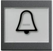 GIRA schakelwip tekstkader groot symbool bel Systeem 55 antraciet mat (021728)