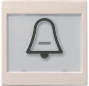 GIRA schakelwip tekstkader groot symbool bel Systeem 55 creme glans (021701)