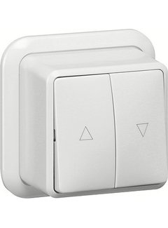 GIRA jaloeziedrukcontact opbouw wit (015811)