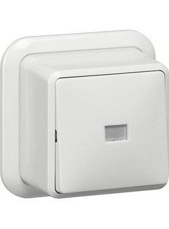 GIRA pulsdrukker wisselcontact 1-polig opbouw wit (015611)