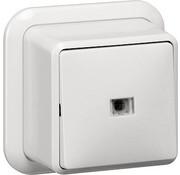 GIRA wisselschakelaar 2-polig controleverlichting opbouw wit (011211)