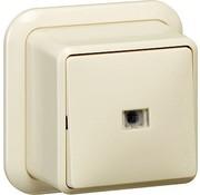 GIRA wisselschakelaar 2-polig controleverlichting opbouw creme (011210)