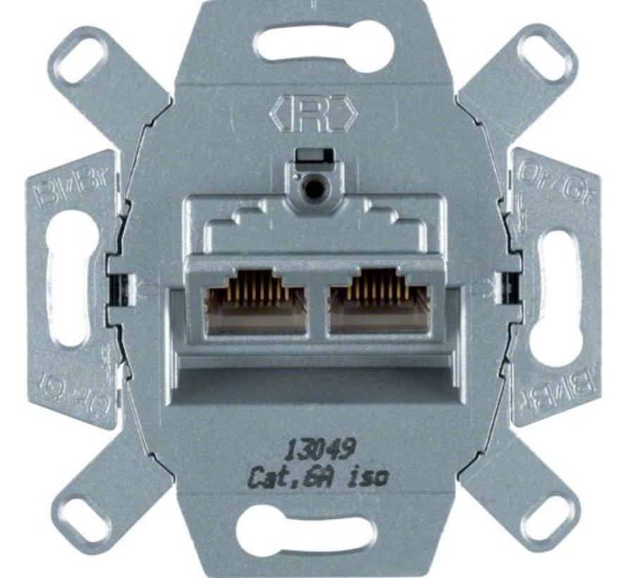 RJ45 data wandcontactdoos CAT6A 2-voudig (4587)
