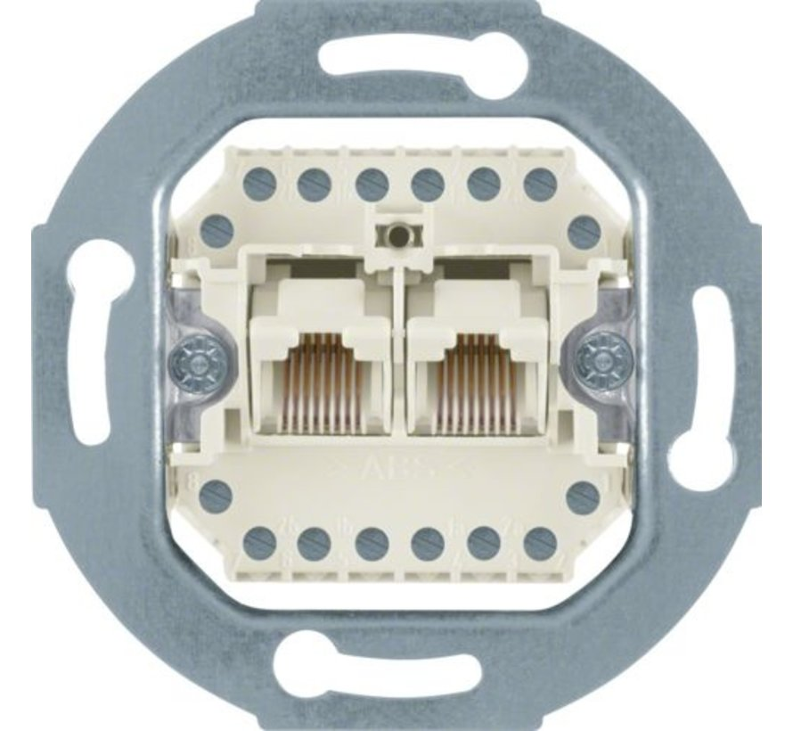 RJ45 data wandcontactdoos CAT3 2-voudig 8-aderig (4539)
