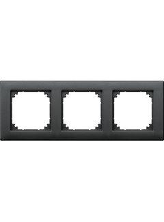 Schneider afdekraam 3-voudig M-smart antraciet (S484319-02)