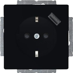 Busch-Jaeger Future Linear wandcontactdoos met randaarde en USB 5V zwart mat