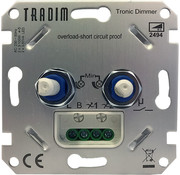Tradim duo dimmer voor LED 2x 1-100W (2494)