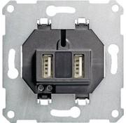 GIRA USB wandcontactdoos 2-voudig USB-A (235900)