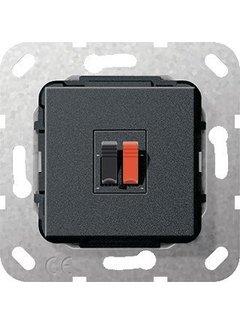 GIRA luidsprekeraansluiting enkelvoudig zwart mat (569210)