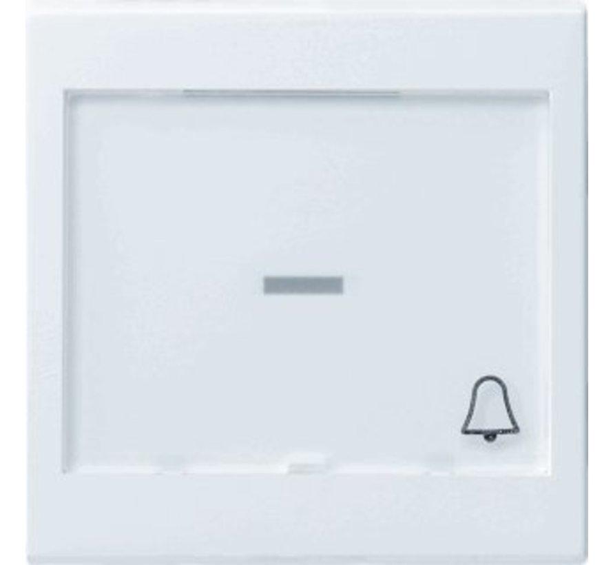 schakelwip controlevenster groot tekstkader symbool bel Systeem 55 wit glans (067903)