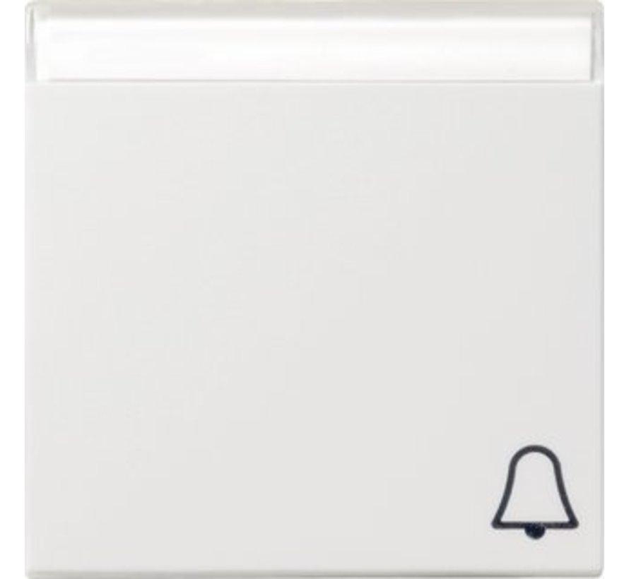 schakelwip tekstkader symbool bel Systeem 55 wit mat (067327)