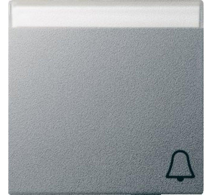 schakelwip tekstkader symbool bel Systeem 55 aluminium mat (067326)