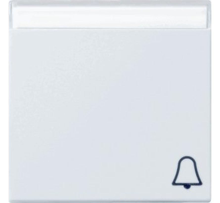 schakelwip tekstkader symbool bel Systeem 55 wit glans (067303)
